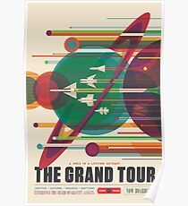 Retro Space Poster - The Grand Tour Poster