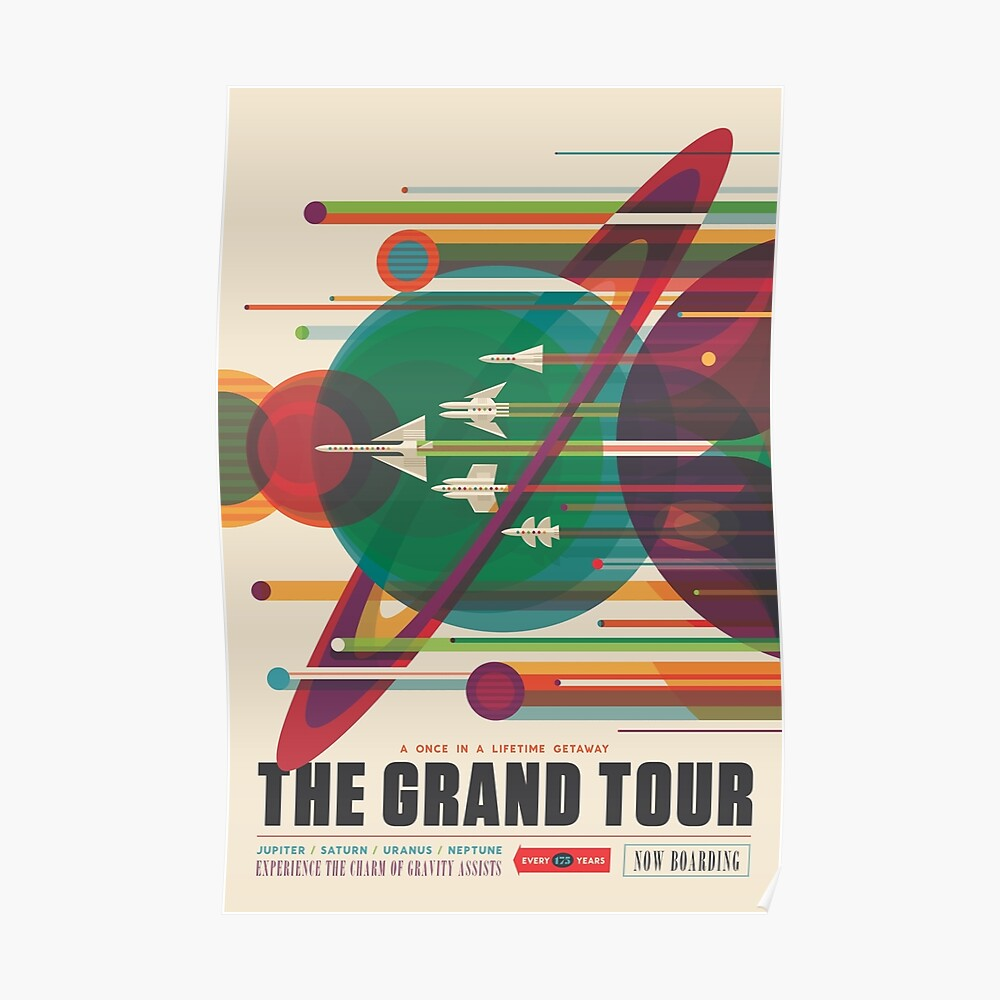 Retro Space Poster - Die große Tour Poster