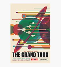 Retro Space Poster - The Grand Tour Photographic Print