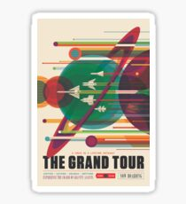 Retro Space Poster - The Grand Tour Sticker