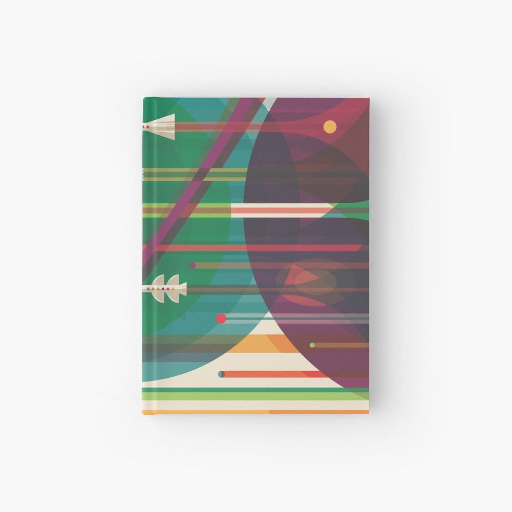 Retro Space Poster - Die große Tour Notizbuch