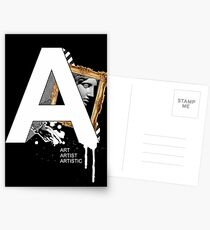 A IS FOR ART Postcards