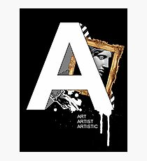 A IS FOR ART Photographic Print