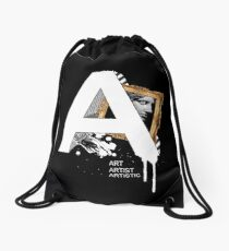 A IS FOR ART Drawstring Bag