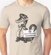March for Science Launceston – Crocodile, black T-Shirt