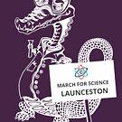 March for Science Launceston – Crocodile, white by sciencemarchau