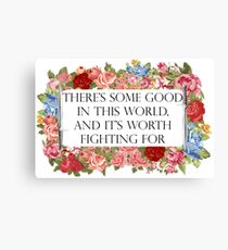 Good in this world Canvas Print