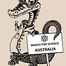 March for Science Australia – Crocodile, black by sciencemarchau