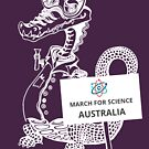 March for Science Australia – Crocodile, white by sciencemarchau