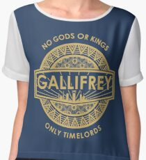 Gallifrey - No Gods or Kings, only Timelords Chiffon Top