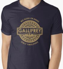 Gallifrey - No Gods or Kings, only Timelords Men's V-Neck T-Shirt