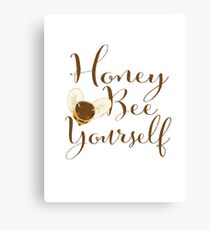 Honey Bee Yourself Canvas Print