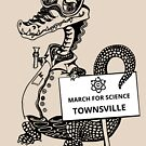 March for Science Townsville – Crocodile, black by sciencemarchau