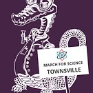 March for Science Townsville – Crocodile, white by sciencemarchau