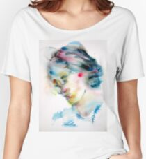 VIRGINIA WOOLF -watercolor portrait Women's Relaxed Fit T-Shirt
