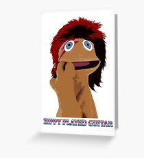 Zippy Played Guitar Greeting Card