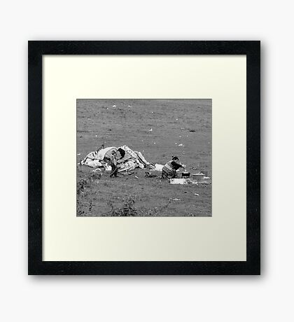 PREPEARING THE MEEL  Framed Print