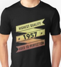 Highest Quality 1957 Aged To Perfection Unisex T-Shirt