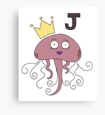 J is for Jellyfish Canvas Print