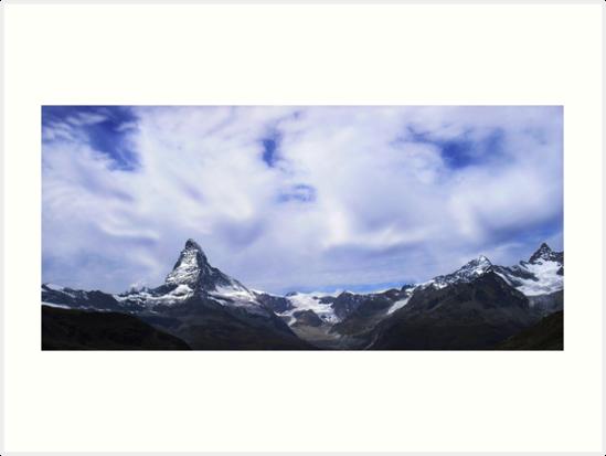 Cloudy guards above the Matterhorn by Derivatix