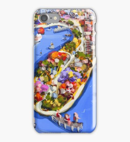 Blue water jetty iPhone Case/Skin