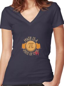 Funny Math PI T-shirt Gift  Women's Fitted V-Neck T-Shirt