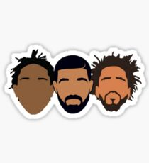 Drake, J Cole, Kendrick Lamar Sticker