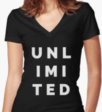 UNLIMITED T-Shirts and Tanks Women's Fitted V-Neck T-Shirt