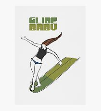 Glide Baby - Poster Photographic Print