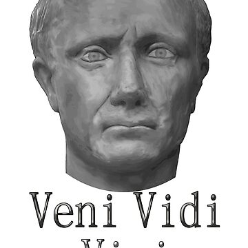 Julius Caesar Portrait Veni Vidi Vici Quote by JimPlaxco
