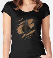 RIP-Gitarre (Version 1) Tailliertes Rundhals-Shirt