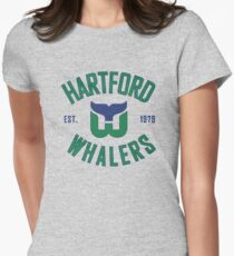 Hartford Whalers CT Women's Fitted T-Shirt