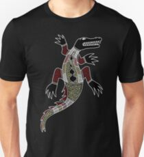 Aboriginal Art - Crocodile Unisex T-Shirt