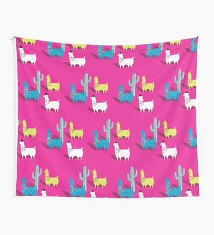 Llama No Drama Wall Tapestry