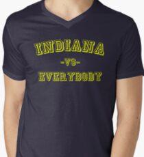 Indiana vs Everybody Mens V-Neck T-Shirt