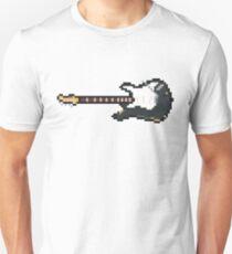Pixel Lefty Black Strat Guitar Unisex T-Shirt