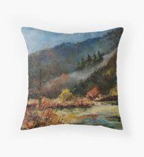River Semois Belgium Throw Pillow