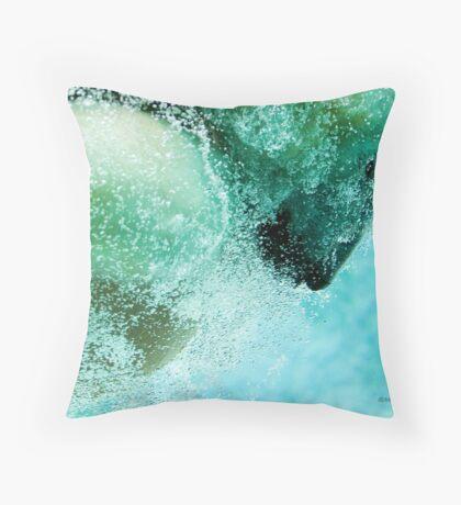 Bubbles (Polar Bear) Throw Pillow