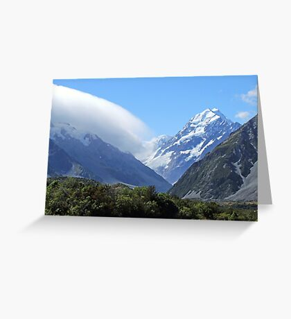 Mountains New Zealand Greeting Card
