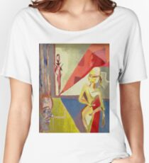 The Columbines Acrylic Painting Women's Relaxed Fit T-Shirt