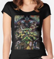 Half shell Women's Fitted Scoop T-Shirt