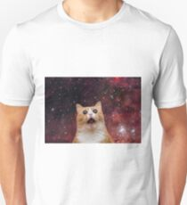 scaredy cat in space Unisex T-Shirt