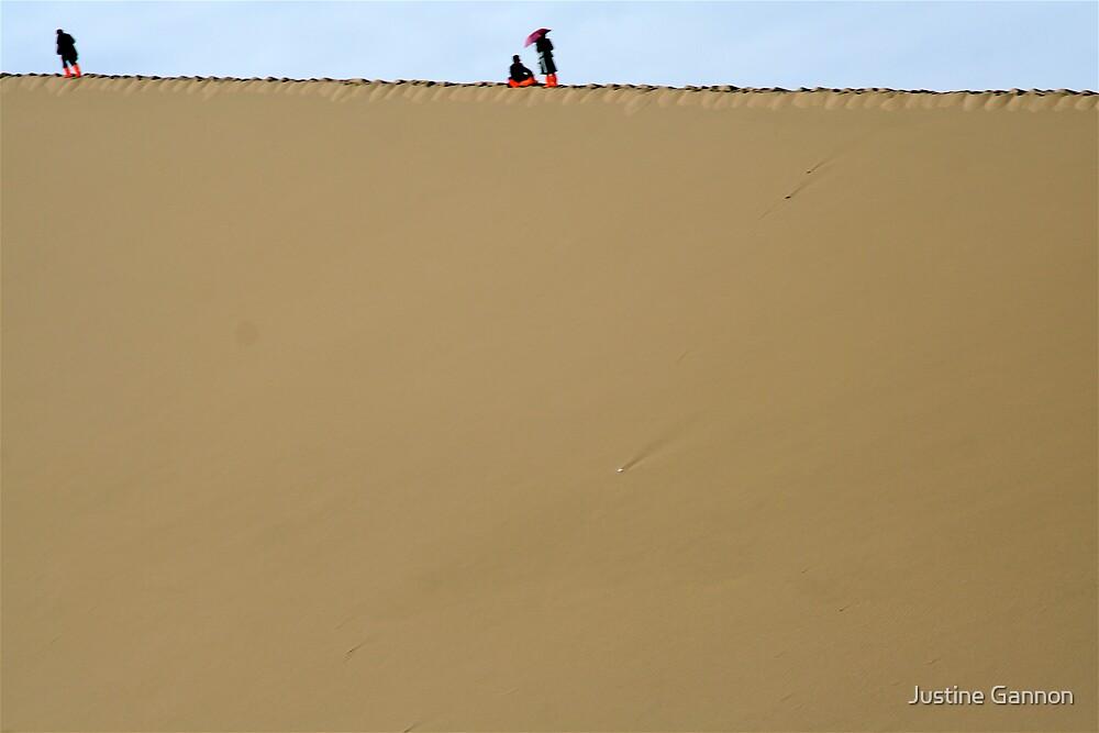Dune trek by Justine Gannon