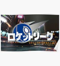 Rokettorigu Rocket League Japan Poster