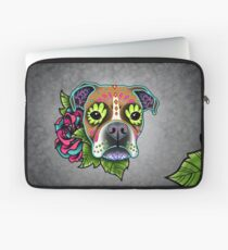 Boxer in White Fawn - Day of the Dead Sugar Skull Dog Laptop Sleeve
