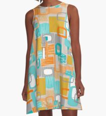 Abstract in Motion A-Line Dress