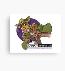 Webcomic Cowboy Detective Promos Canvas Print