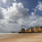 Winter Beach - Clearing Storm on Praia da Rocha Algarve Portugal  by Georgia Mizuleva