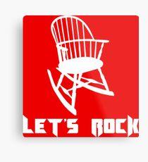 Let's Rock Metal Print