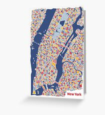 New york greeting cards redbubble new york city map greeting card m4hsunfo